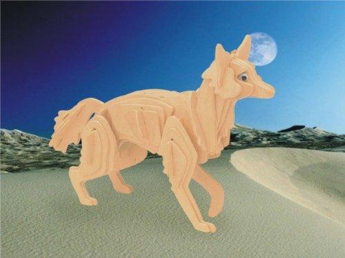 Puzzled Coyote Wooden 3D Puzzle Construction Kit - 1
