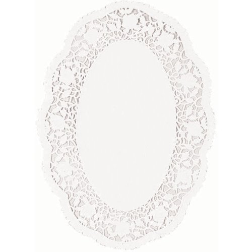 Amscan Classic Oval Doilies Party Supplies, 7-1/2 x 10-1/2