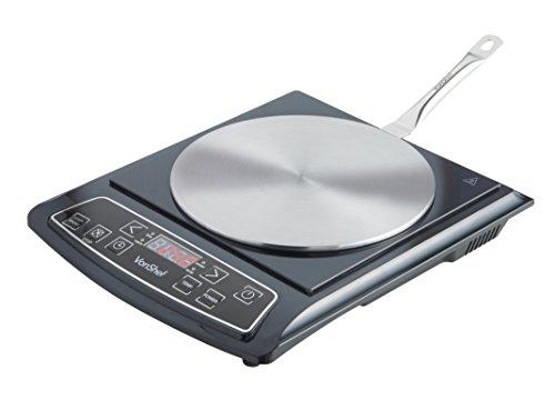 Vonshef disque relais adaptateur pour plaque induction en inox 23 5 cm - Disque adaptateur pour plaque induction ...
