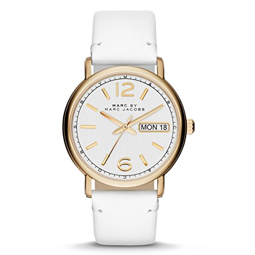 Secondo le donne s Marc by Marc Jacobs 'Fergus'Orologio, 38 mm, colore: Bianco/Oro