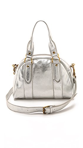 Liebeskind Berlin Leni Metallic Suede Top Handle Bag, Silver, One Size