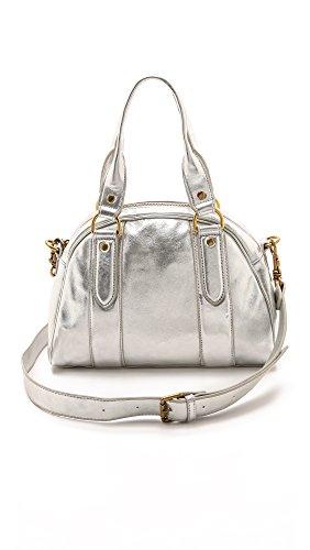 Liebeskind Berlin Leni Metallic Suede Top Handle Bag, Silver, One Size