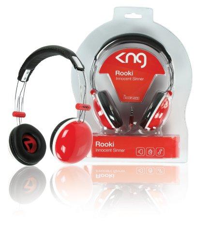 KNG Rooki Innocent Sinner Designer Headphones - Red