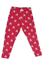 Chalk by Pantaloons Girl's Regular Fit Legging (205000005614187, Pink, 6-7 Years)
