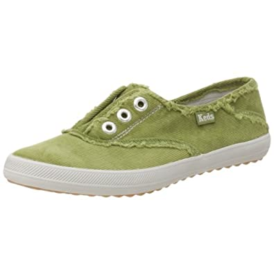 Keds Women's Champion Luxe CVO Distressed Slip On,Turf Green,8.5 M