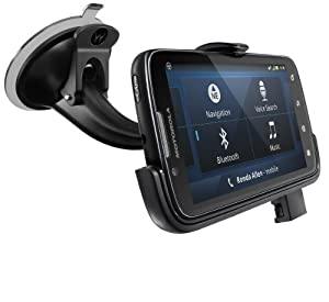 Motorola ATRIX 2 Vehicle Navigation Dock with Rapid Vehicle Charger - Car Kit - Retail Packaging - Black