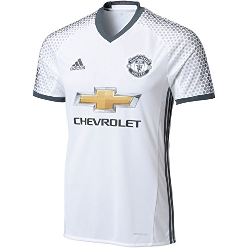 Adidas Mens 16/17 Manchester United Replica 3Rd Jersey White/Grey L (Manchester United White Jersey compare prices)