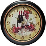 Infinity Instruments Valencia Wine and Grapes Wall Clock - 12