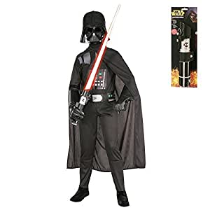 Kid's Darth Vader Star Wars Costume Set with Lightsaber