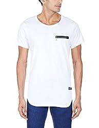 Tiktauli de Corps Men's Round Neck Cotton T-Shirt (8904203029528_MSTESC15102/WHI_M_White)