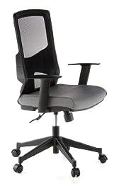 Hjh Office Lavita Siège de bureau type fauteuil de direction - Tissu en maille - Noir/Gris
