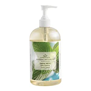 Garden Botanika Sweet Mint Body Cleanser, 16.9 Fluid Ounce by Garden Botanika