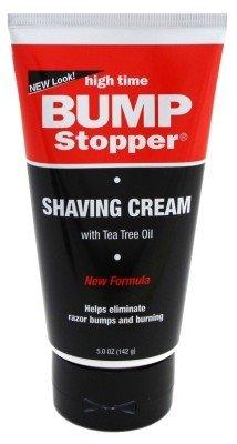 High Time Bump Stopper Shaving Cream W/Tea Tree Oil 5Oz Tube (6 Pack)