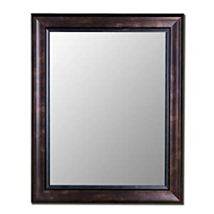 "Espresso Walnut Mirror with Walnut Liner 33"" x 45"""