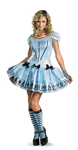 Disguise Womens Disney Sassy Alice In Wonderland Fancy Halloween Themed Costume