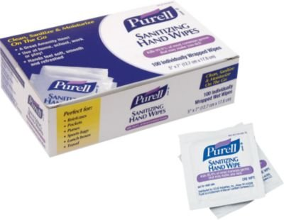 Purell® Hand Sanitizing Wipes, 100 Wipes/Box front-725319
