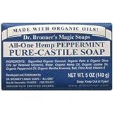 Dr Bronner's Peppermint Soap Bar (140g)