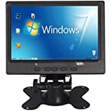 cocopar™ Raspberry Pi ラズベリーパイに適応する  7インチ(1024*600)IPS  ハイデフィニション 液晶パ  ネルスクリーン TFT モニター ディスプレイ+ AV2 + HDMI + VGA  スタンド付き Raspberry Pi Model B/B  +/2B も適応  パソコンディスプレイ 車載用可能