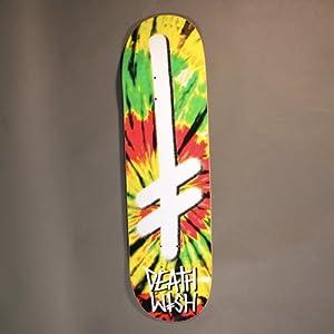 Deathwish Gang Logo Tie Dye Rasta skateboard - 8,38 ...
