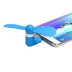 Corcepts New Portable Super Mute USB Cooler Cooling Mini Fan Blue Noteworthy for Alcatel One Touch Hero 8020D