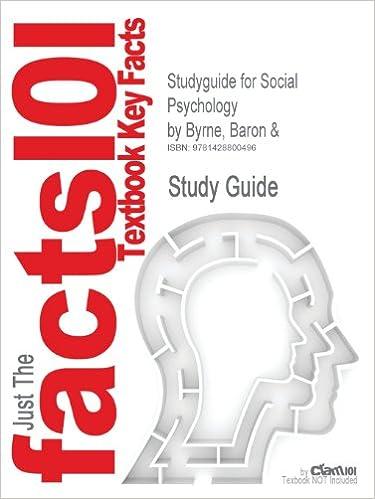 Studyguide for Social Psychology by Byrne, Baron &, ISBN 9780205349777 price comparison at Flipkart, Amazon, Crossword, Uread, Bookadda, Landmark, Homeshop18