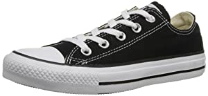 Converse AS Oxford - Zapatos de lona unisex, color negro/blanco, talla 39.5
