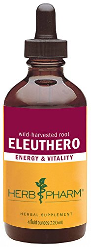 Herb Pharm Eleuthero (Siberian Ginseng) Root Extract for Energy and Stamina - 4 Ounce