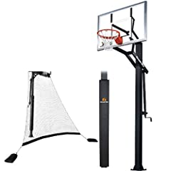 Goalrilla GS54-SPP In-Ground Basketball System with Pole Pad and Ball Return Net,... by Goalrilla Goals
