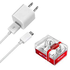 LG Optimus Showtime L86C/L86G White Premium Micro USB Travel Charger with USB Port (2-in-1)