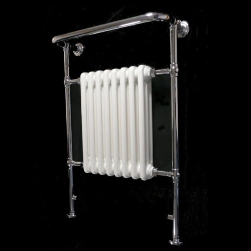 Vecchio Victorian Style Heated Chrome Bathroom Column Towel Rail Radiator 952 x 659 mm