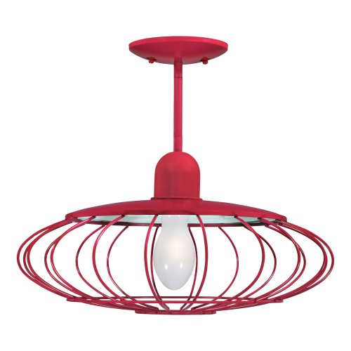 Buy Westinghouse Garage Lighting One-Light Rally Adjustable Pendant Fixture, Racing Red #64777