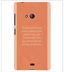 PrintDhaba Quote D-4969 Back Case Cover for MICROSOFT LUMIA 540 (Multi-Coloured)