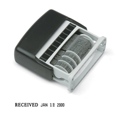 Cosco 2000 Plus Self-Inking Type Size 1 Micro Message Dater (011090) front-989625