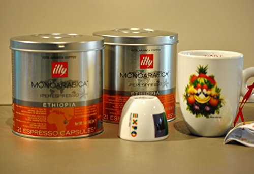 Choose Illy Coffee Iperespresso Ethiopia - Set 2 cans of 21 capsules each by Illy