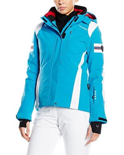 HYRA Ski-Jacke Bormio Lady türkis/weiß DE 44 (IT 50)