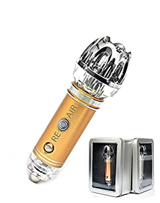"""""""Renewal Air"""" Car Air Purifier Ionizer and Car Air Refresher, Eliminates Cigarettes Smoke, Pollen, Dust, Food Odor, Bad Smell, Kills Germs and Bacteria. Help Keep Your Family Happy and Healthy"""