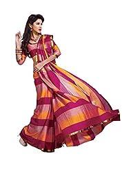ISHIN Cotton Multicolor Saree - B00LL6JYVI