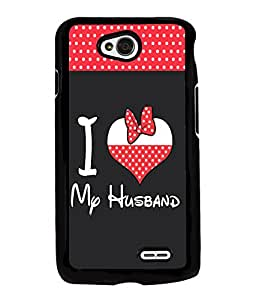Fuson Love Quote Back Case Cover for LG L70 - D3961