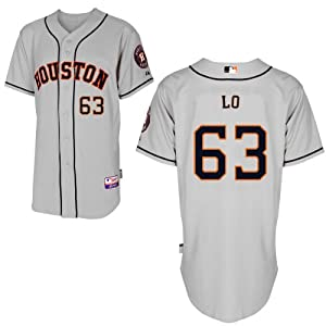 Chia Jen Lo Houston Astros Road Authentic Cool Base Jersey by Majestic by Majestic