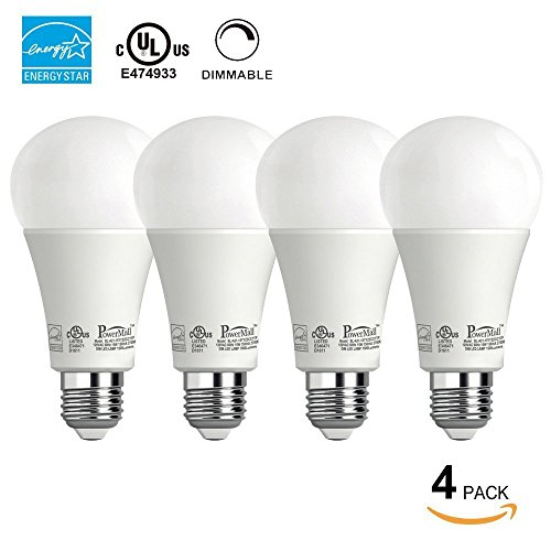 Powermall 4 Pack A21 LED Light Bulbs 15W (=100W) 1500LM Warm White E26 Home Commercial Lighting Lamp
