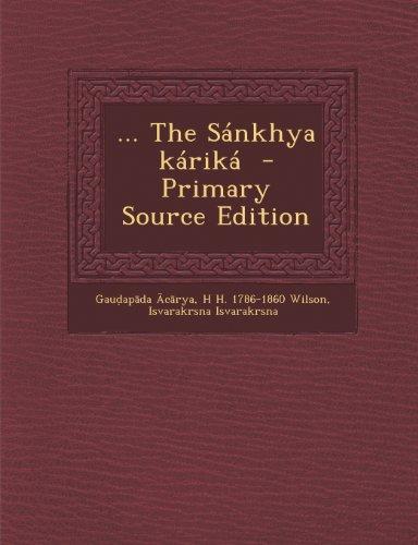 ... The Sánkhya káriká