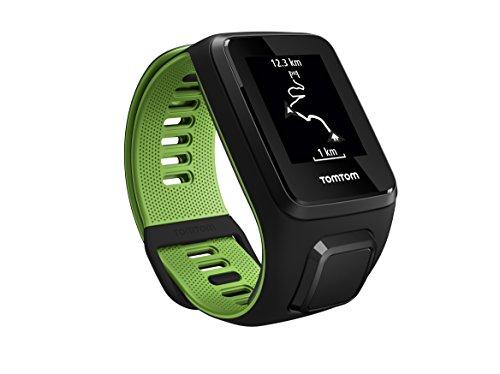 TomTom Runner 3 con Cardiofrequenzimetro incluso e GPS. Colore: Nero/Verde
