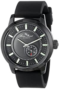 Lucien Piccard Men's LP-12550-BB-01-BK Black Dial Black Silicone Automatic Watch