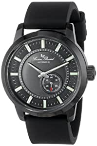 Lucien Piccard Men's LP-12550-BB-01-BK Black Dial Black Silicone Automatic Watch