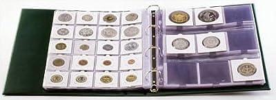 Feuilles numismatiques Standard en PVC [Lindner 8310], à 20 cases, Format 24 x 28,3 cm, pack de 10