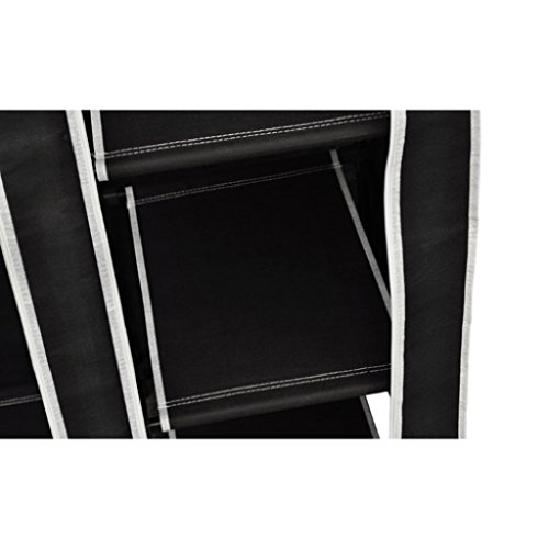 Armoire Etagère de rangement noire