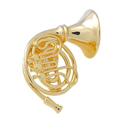 Anstecker-Horn-vergoldet