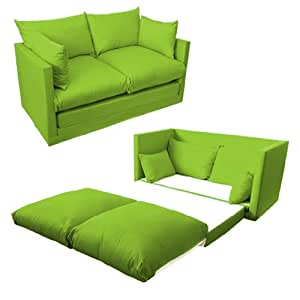 shopisfy schlafsofa f r kinder 2 sitzer kompakt zum ausklappen lime. Black Bedroom Furniture Sets. Home Design Ideas