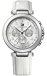 Tommy Hilfiger stainless steel white leather strap ladies watch 1781448