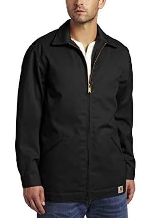 Carhartt Men's Tall Twill Work Jacket, Black, Medium